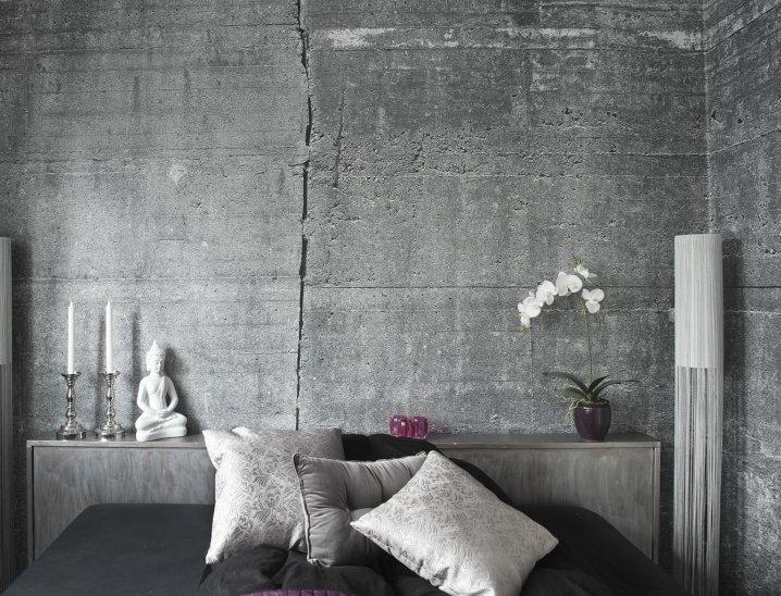 Papel de parede de concreto: Solução para paredes brancas